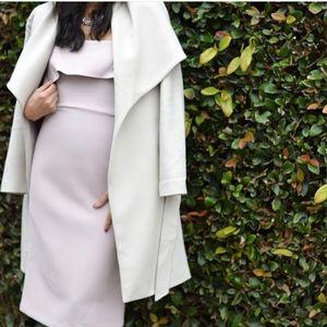 BCBG Strapless Lilac Ruffle Dress